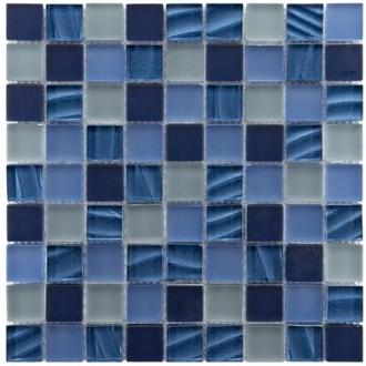 Glass Gobsmacked: Blue Glass Tiles