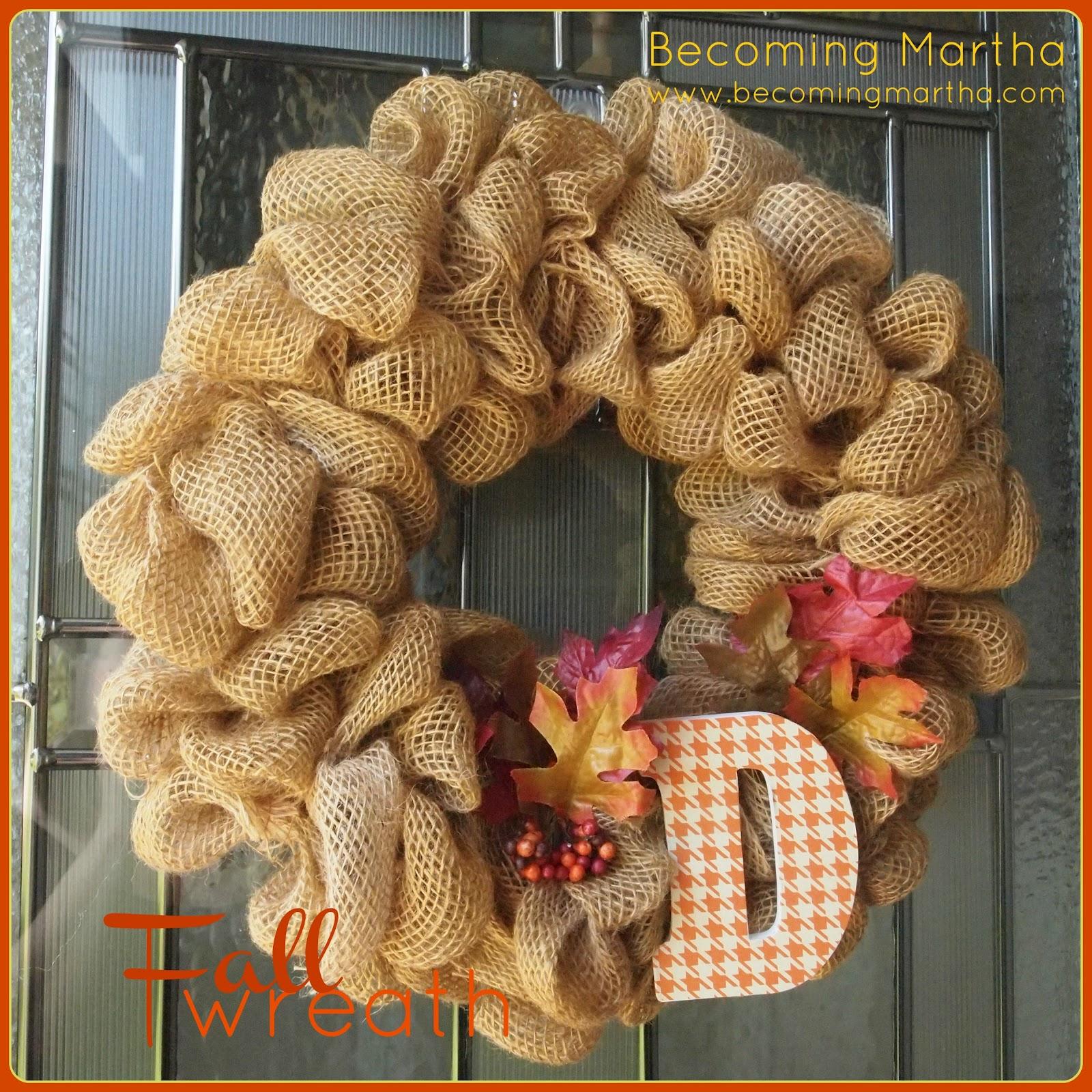 Fall Wreath An Autumn Fall Wreath