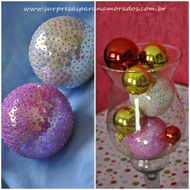bolas de isopor decoradas