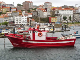 Fishing boat in Finisterre