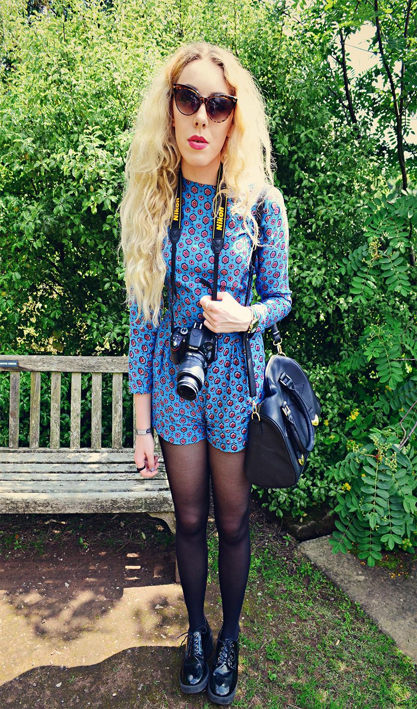 molly playsuit motel, stephi lareine, blonde, uk fashion blog, stephilareine.com, asos truffle, primark bag, zero uv cat eye