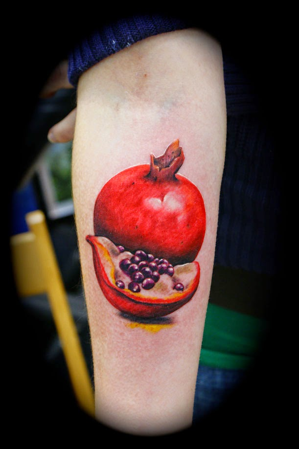 pomegranate tattoo design on arm for boy and girlPomegranate Fruit Tattoo