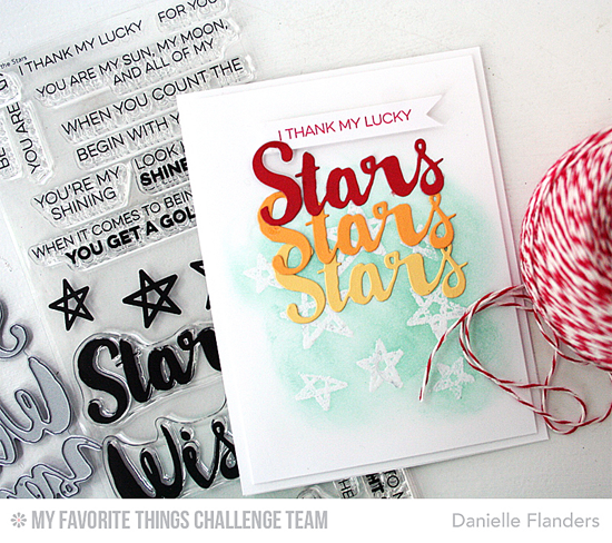 Lucky Stars Card by Danielle Flanders featuring the Laina Lamb Designs Count the Stars stamp set and Stars & Wishes Die-namics #mftstamps