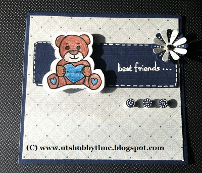 handmade Best Friends Card