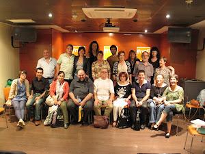 Algunos de los participantes en el Taller de escritura creativa Fnac 2011