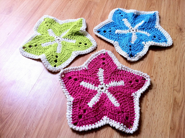 Crochet Starfish Washcloth