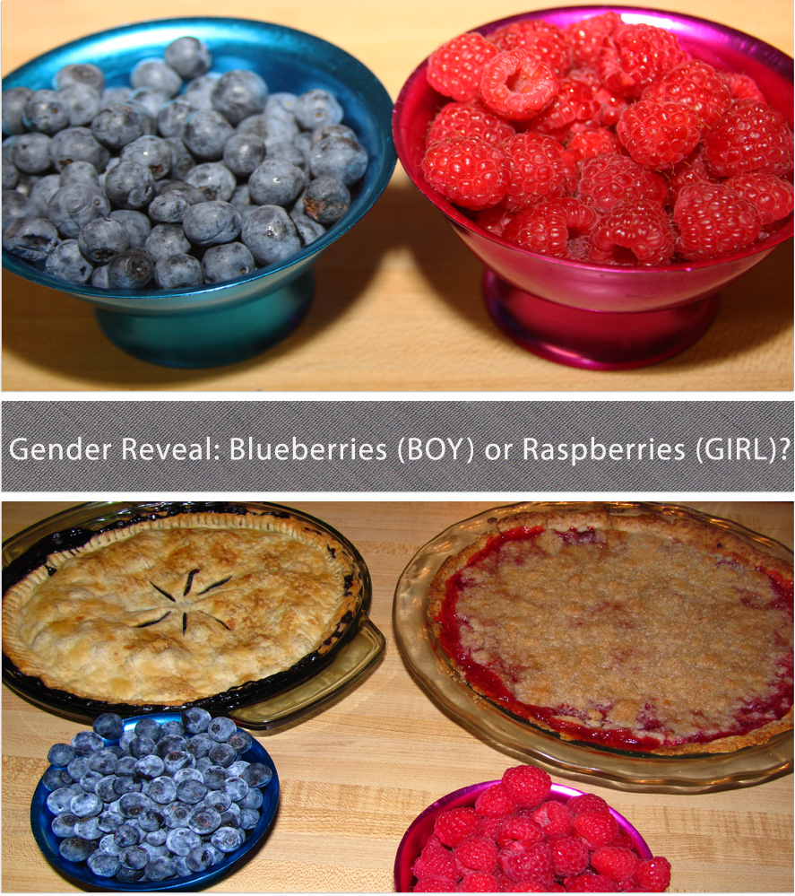 Gender Reveal Party With Blueberry Maple Raspberry Crumb Pies