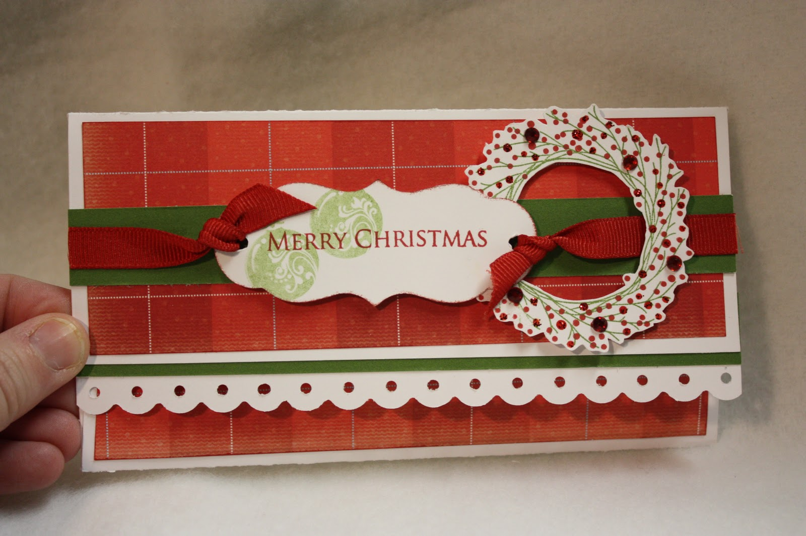 Classic Christina: Money Holder Card (from Christmas Card