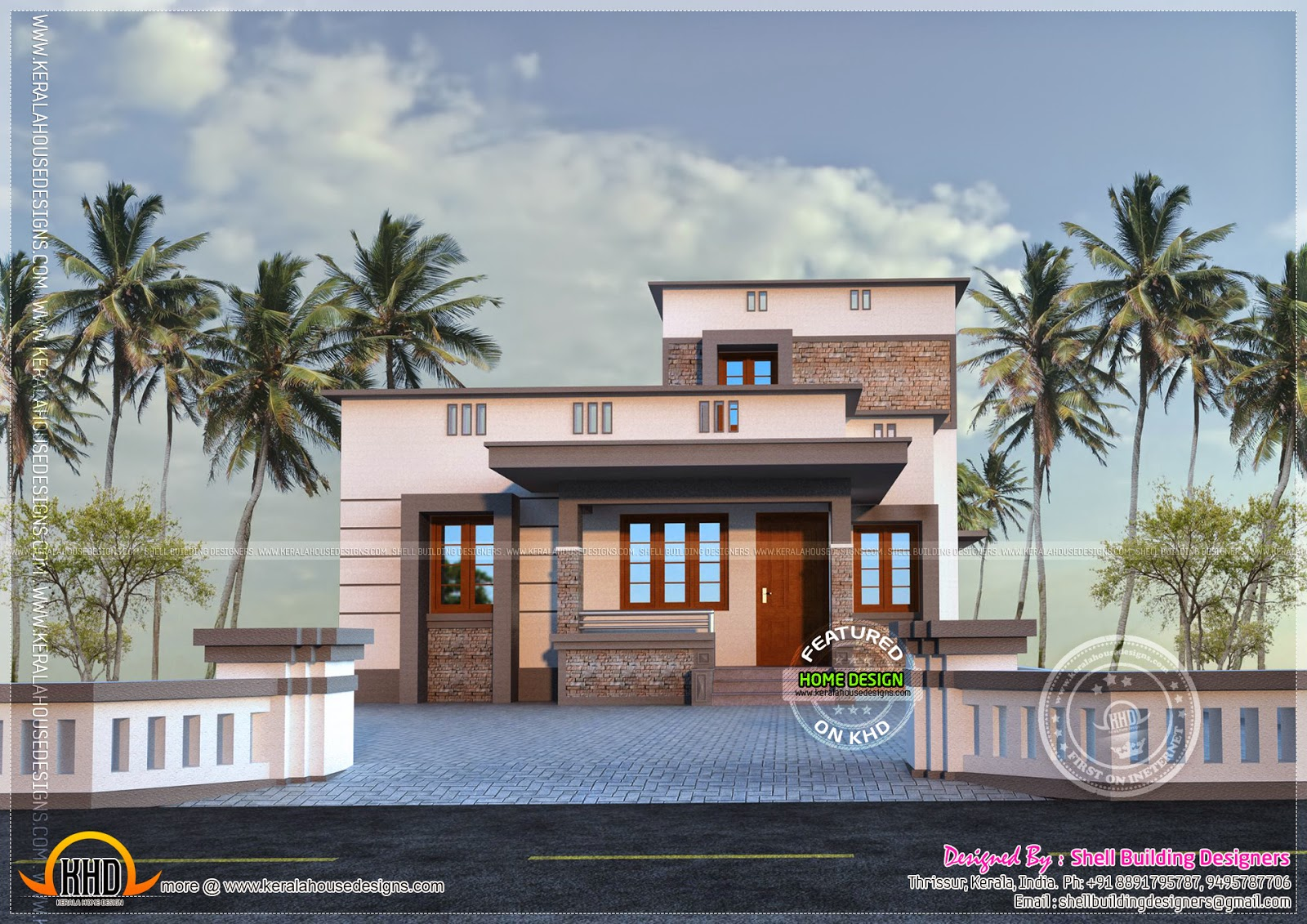 1524 square feet vastu compatible home home kerala plans for Kerala vastu home plans