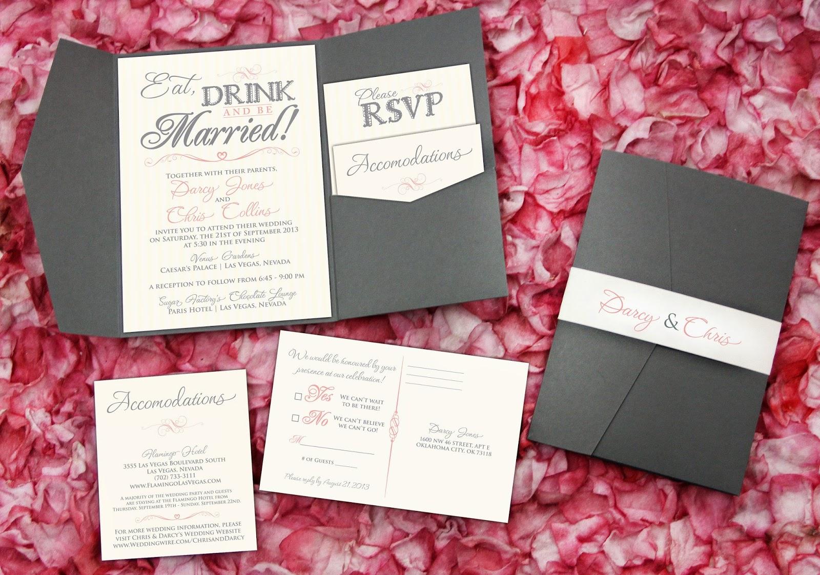 Populaire Kara's Koncepts Graphic Design - Custom Wedding Invitations  VD93