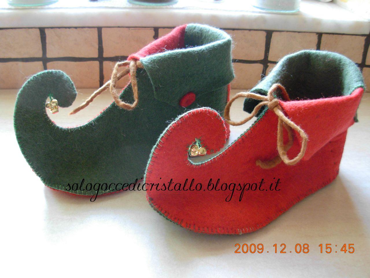 Solo gocce di cristallo pantofole follettose for Pantofole natalizie