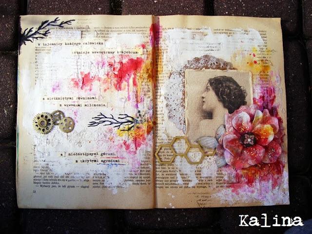 Projekt art journal - Tajemnica