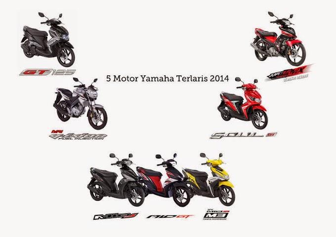 Lima Motor Terlaris Yamaha di 2014