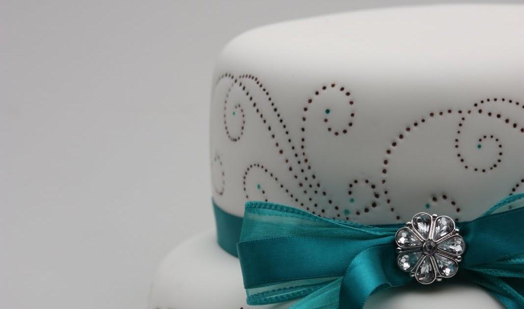 Cake Art Kirkland Wa : Whimsical by Design: Teal & Brown Dots Cake