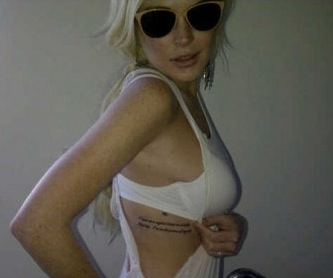 Les Tatouages De Lindsay Celebrities Tattoo