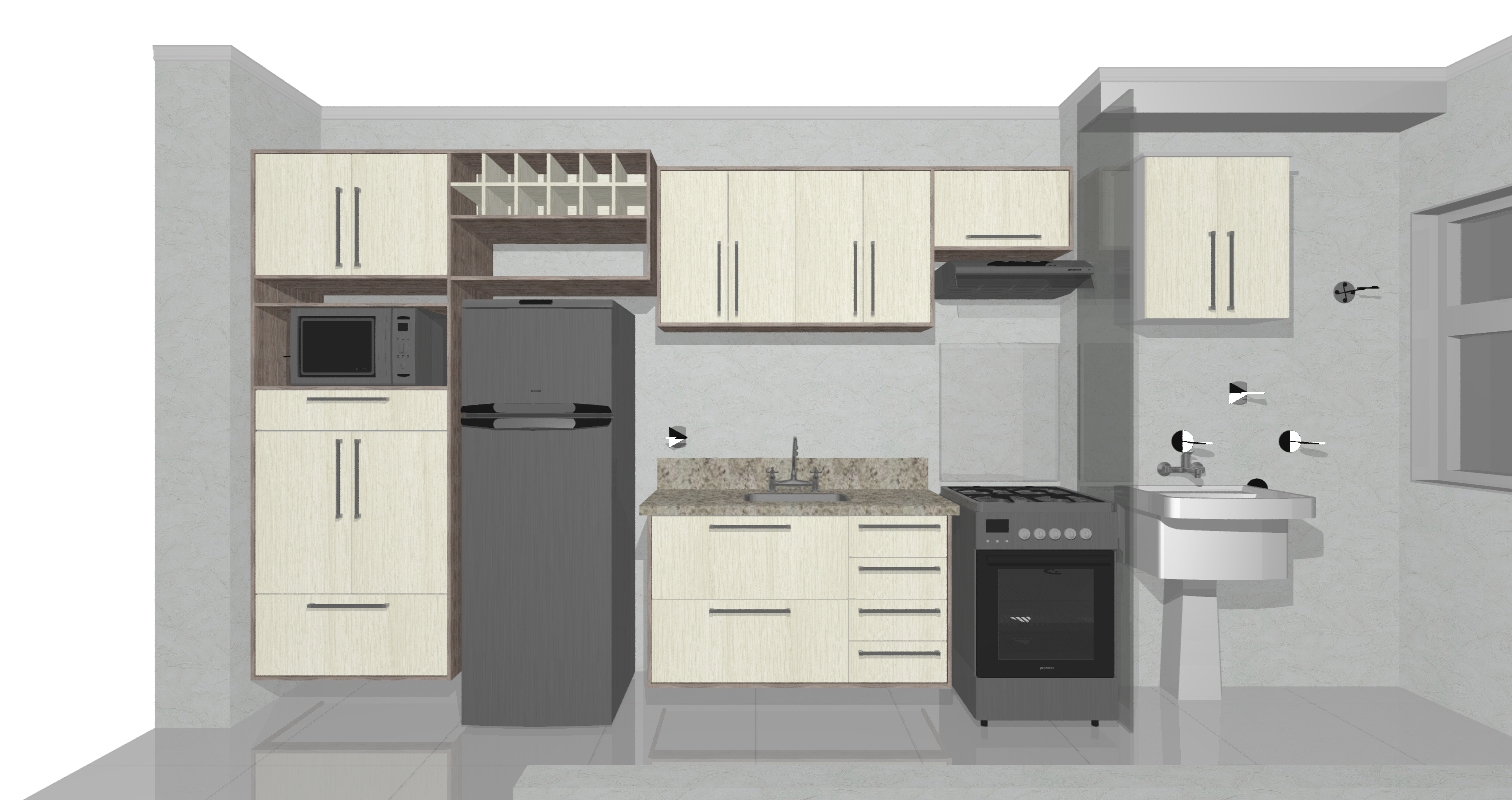 Nelson Simões: Cozinha e lavanderia / Passeo Sorocaba #594F49 1512 800