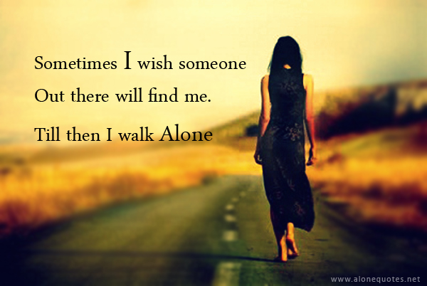 sad alone girl quotes - photo #1