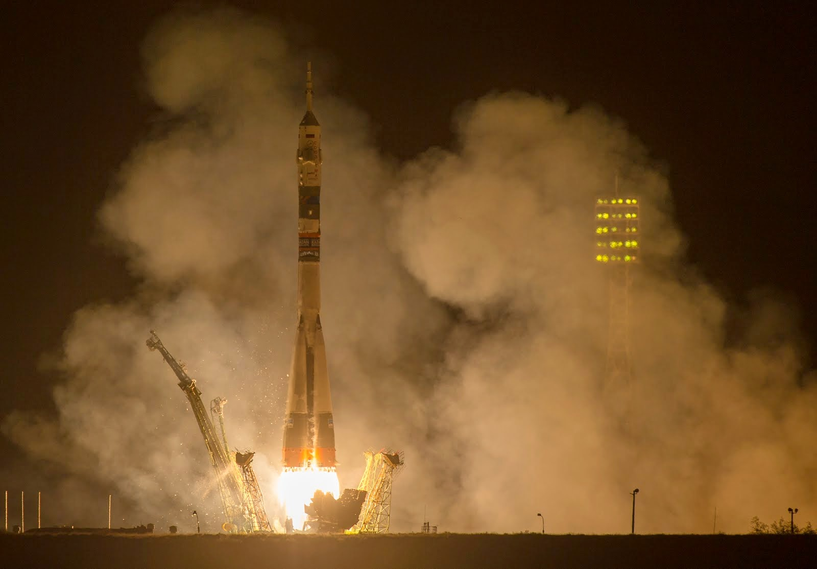 EXPEDITION 41 CREW LAUNCHES TO ISS