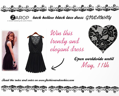 Zarop black lace dress Giveaway on Fashion and Cookies