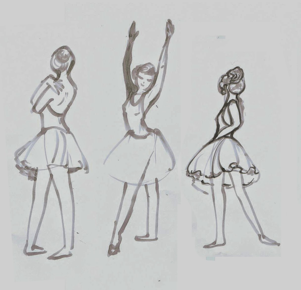 2 minute drawings ~ Ballerina