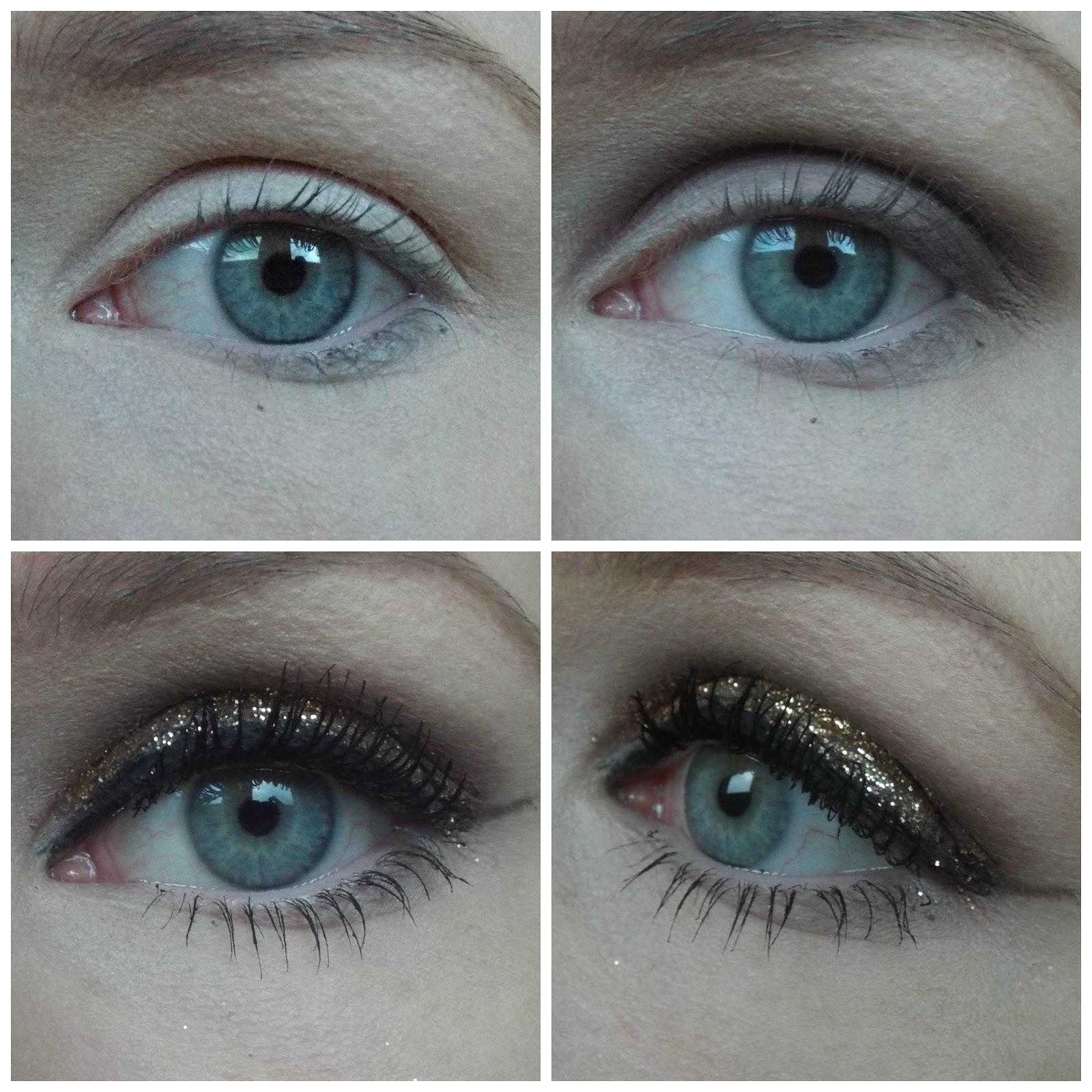 Gold Glitter Smoky Eye