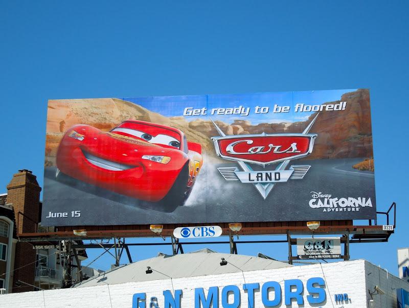 Lightning McQueen Cars Land billboard