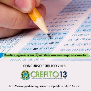 apostila concurso Crefito-MS Mato Grosso do Sul.