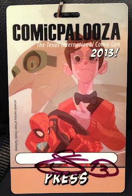 """Comicpalooza 2013 Press Pass Designed by Sean """"Cheeks"""" Galloway"""