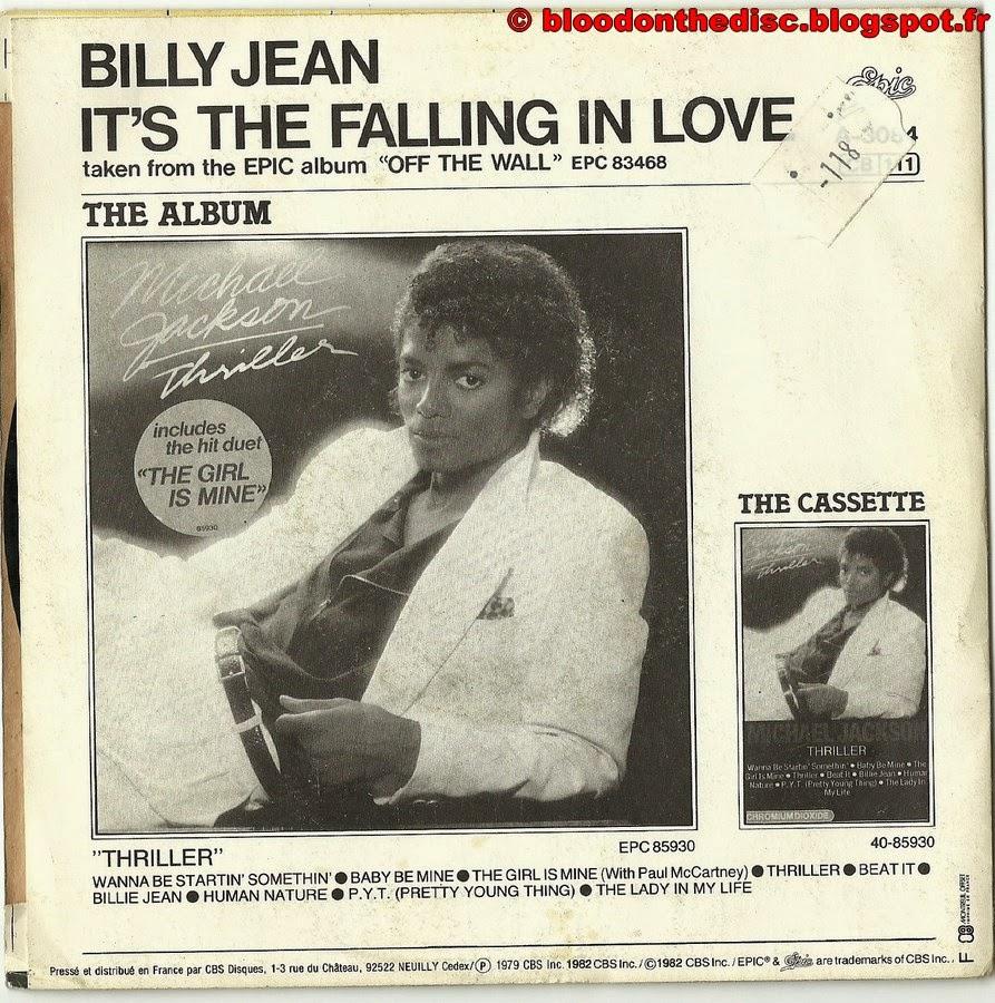Billie Jean 45T Back Cover