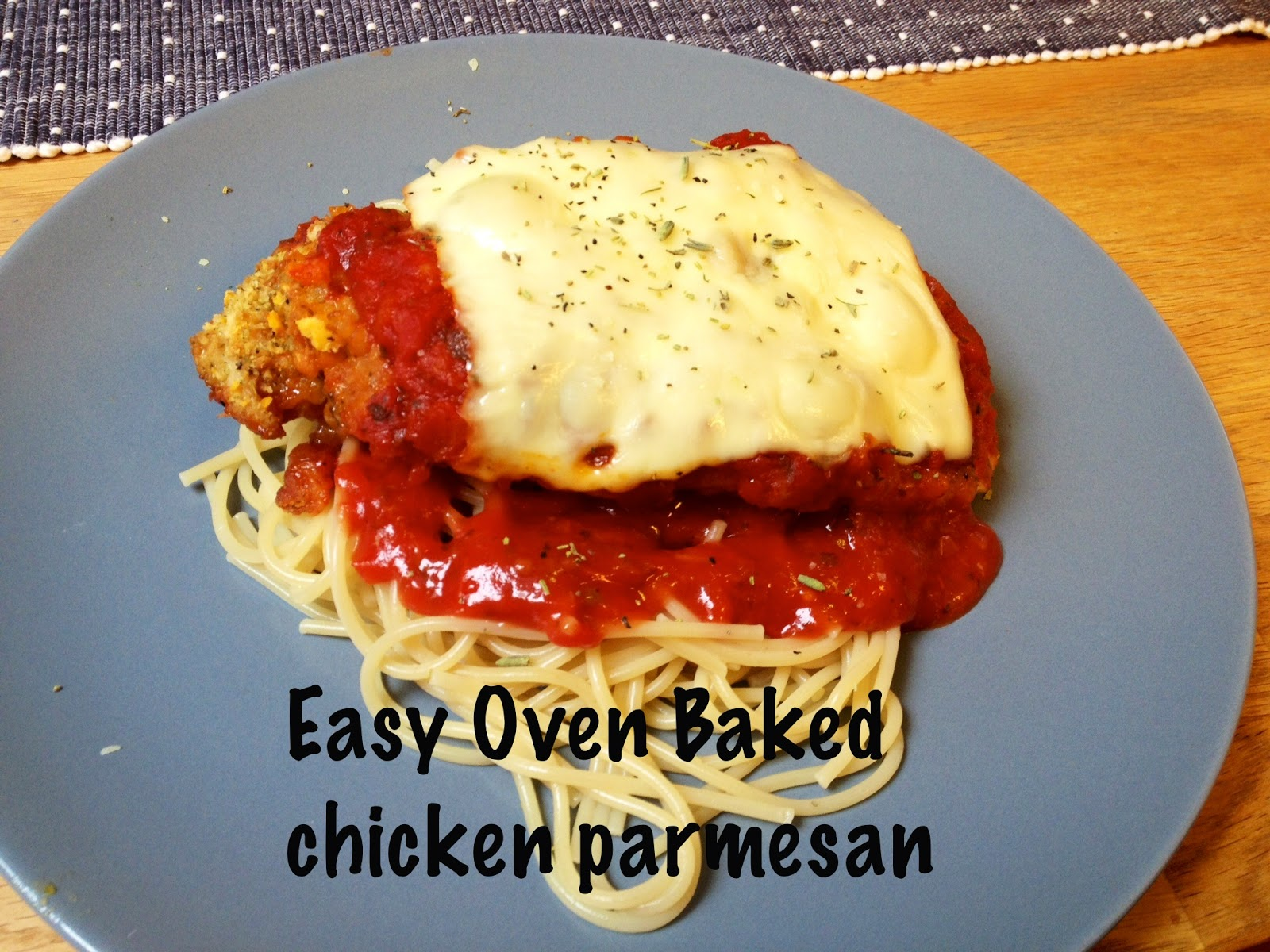 easy oven baked chicken parmesan recipe
