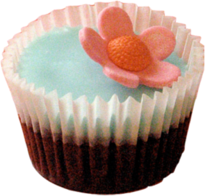 سكرابزات كعك Flower_cupcake