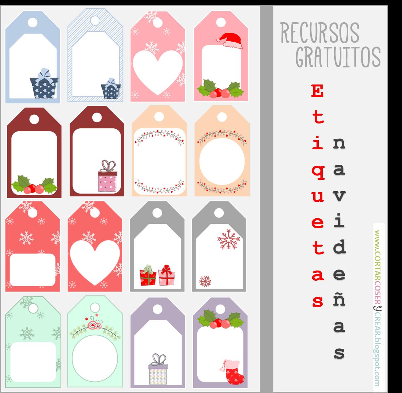 Recursos gratuitos etiquetas para regalos de navidad - Hacer cosas para navidad ...