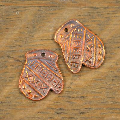 Handmade Copper Mittens Kristi Bowman Design