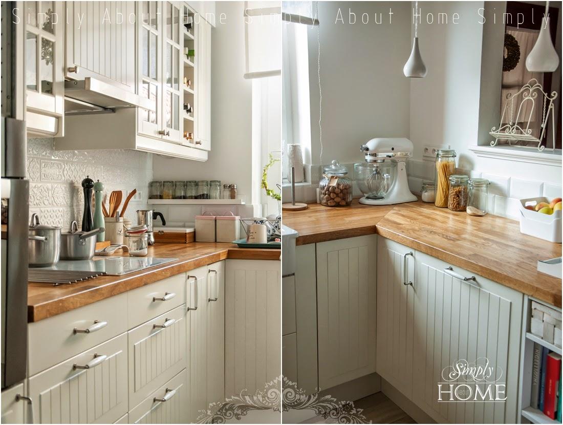 simply about home Jak olejować drewniany blat kuchenny -> Kuchnia Biala Drewniane Blaty