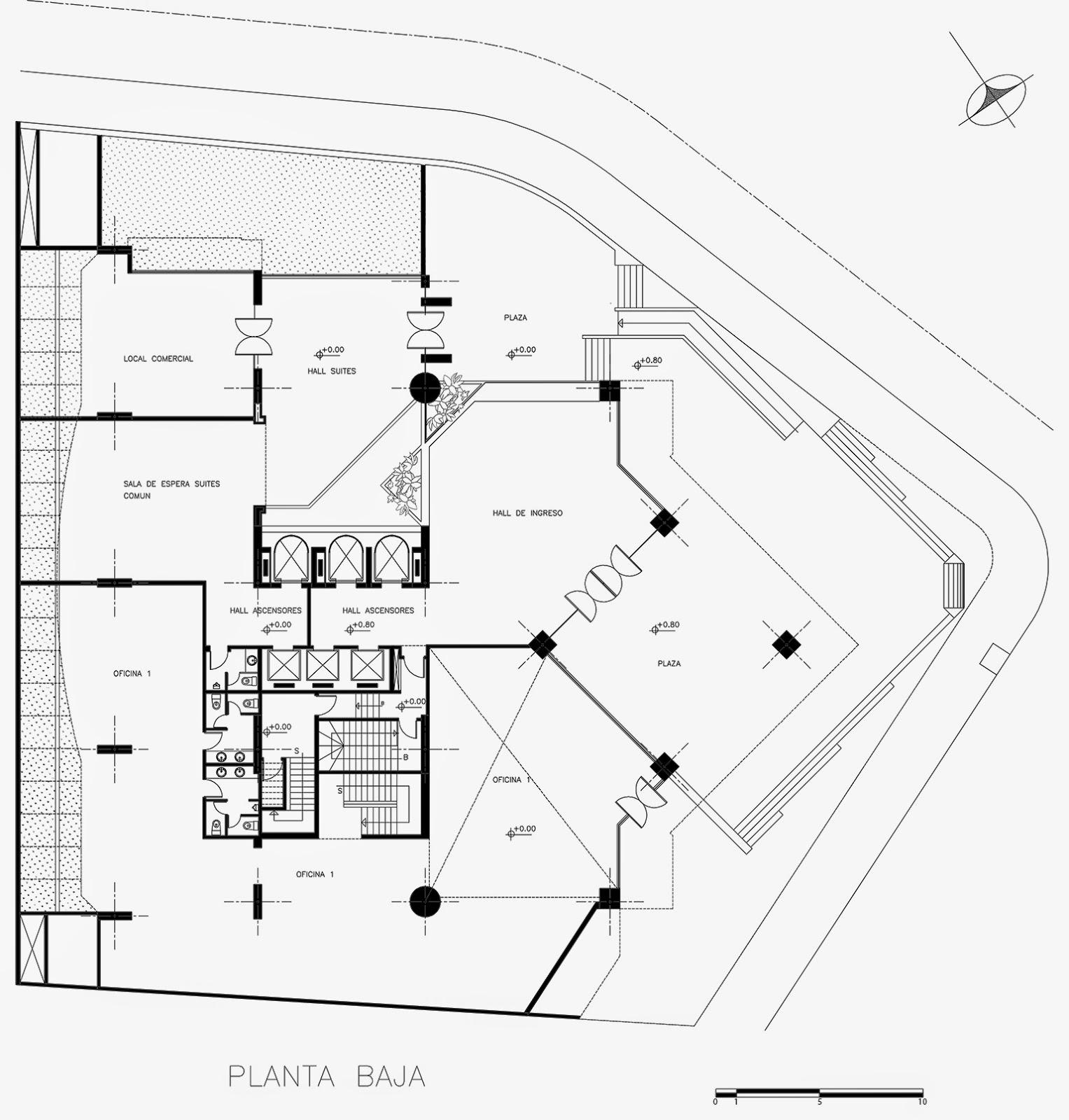 Arquitectura moderna en ecuador edificio plaza 2000 for Libros de planos arquitectonicos