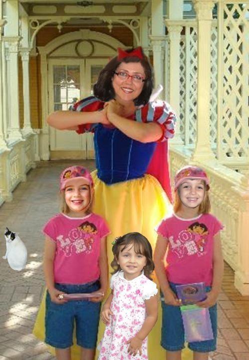 Vovó de Neve e as três netinhas