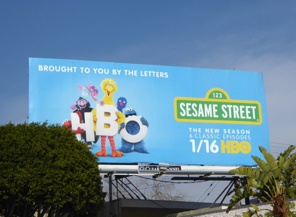 Sesame Street HBO billboard