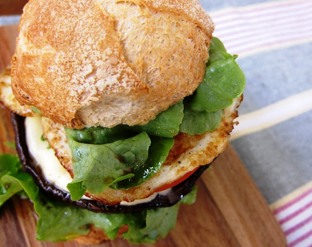 the indolent cook: balsamic portobello mushroom burger with bocconcini ...