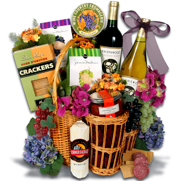 Gift Basket Clipart : Wine gift baskets ? vector clip art free