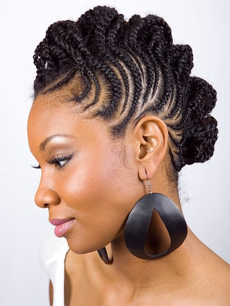 Gorgeous Natural Hairstyles - Braided Mohawk styles we are loving