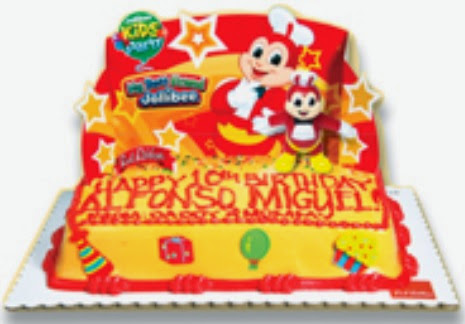 birthday cake included in the Jollibee party package for 2016