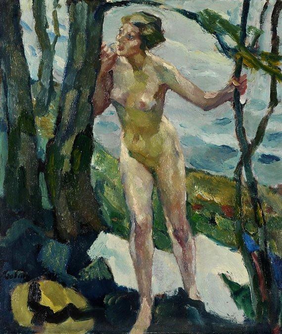 Leo Putz 1869-1940 Italian-born German Impressionist painter | The Summer Dreams