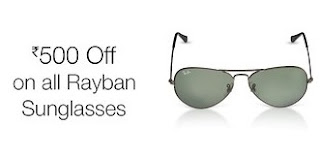 Ray-Ban Sunglasses Flat Rs. 500 Off, from Rs. 3700 - Amazon