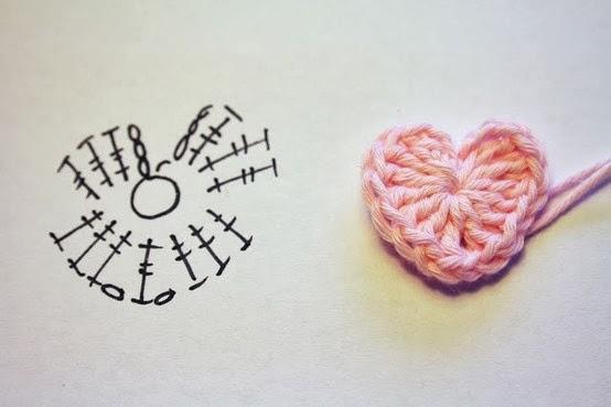 Coração em crochê