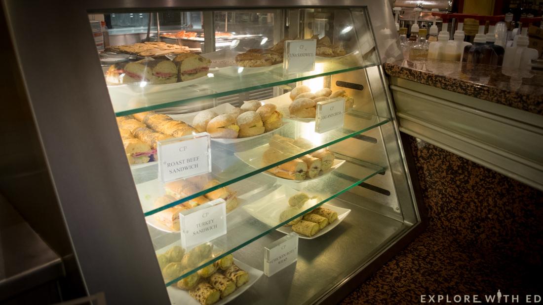 Cafe promenade food, Explorer of the Seas, Royal Caribbean sandwiches
