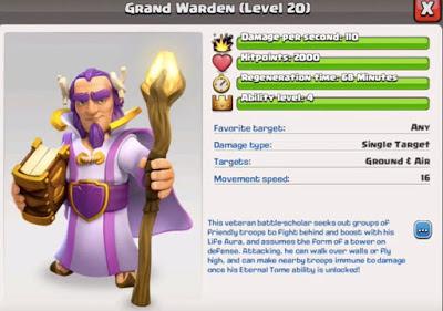 Inilah Grand Warden Hero Terbaru Clash of Clans