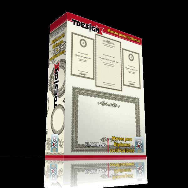 Tdesignx Material para Diseño: Plantillas Marcos Para diplomas o ...