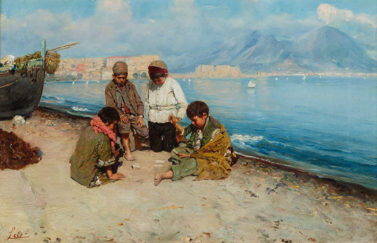 Antonino Leto  ambini che giocano sulla spiaggia