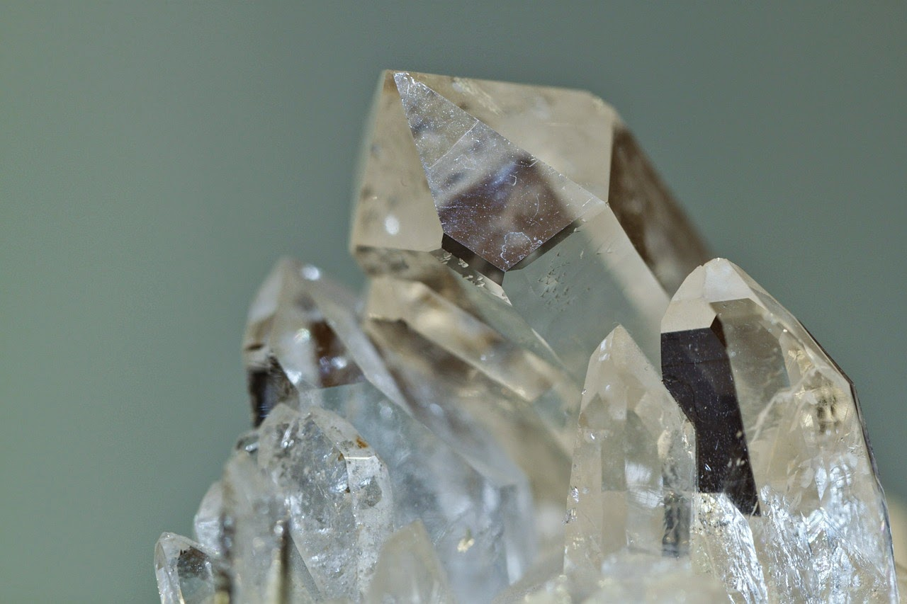 clear quartz cluster rock crystal