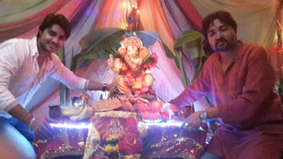 Pradeep Pandey and Rajkumar Pandet at home
